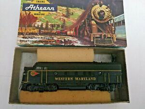 HO-scale-Athearn-F7A-Wetsren-Maryland-Diesel-Locomotive-Custom-paint-RARE