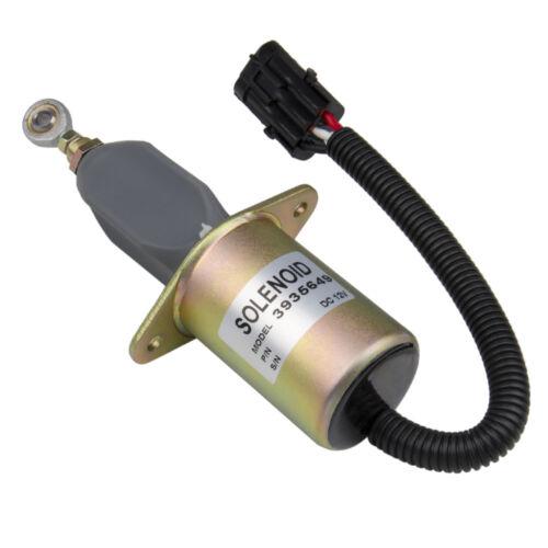"Replacement Fuel Shut Off Solenoid 3/"" For 5.9L or 8.3L Cummins Diesel Engine Top"