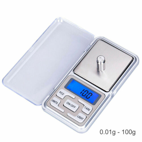 500g Digital Electronic Scale Jewellery Gold Weighing 4Types 0.01g-500g//0.1g