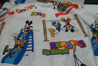 Disney MICKEY MOUSE Clubhouse Flat Sheet Twin Size Goofy ...