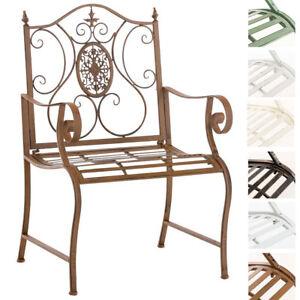 Chaise jardin PUNJAB métal vintage vieilli terrasse salon chic large ...