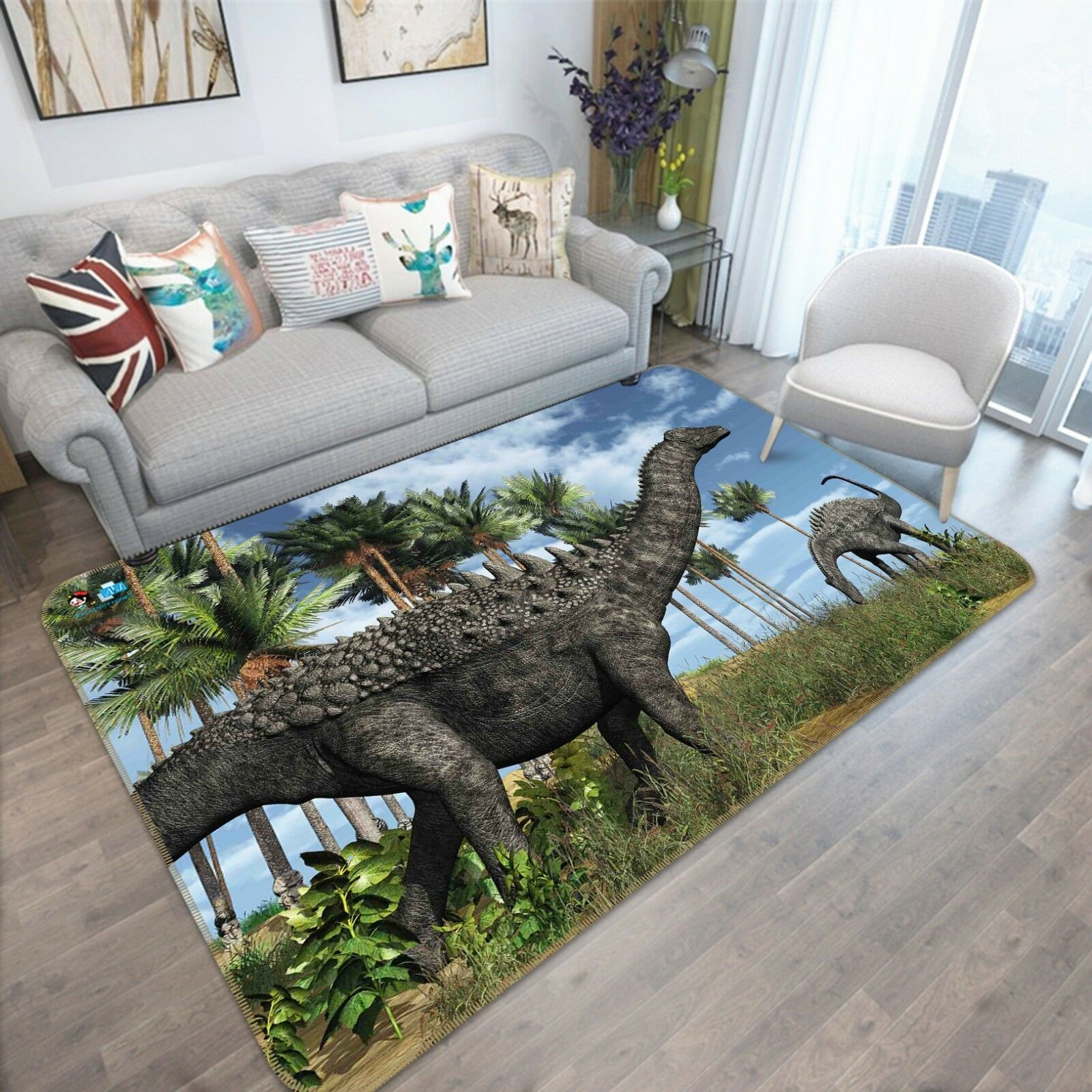 3D Anime Dinosaur 64 Non Slip Rug Mat Room Mat Quality Elegant Photo Carpet AU