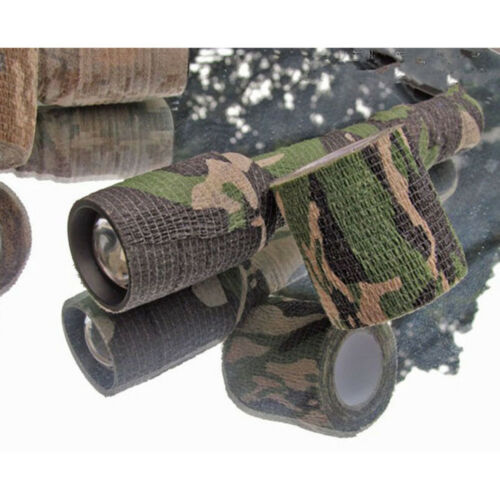 Camouflage Non-woven Fabric Camo Tape 5cm x 4.5m Wrap Fabric Gun Hunting Stealth