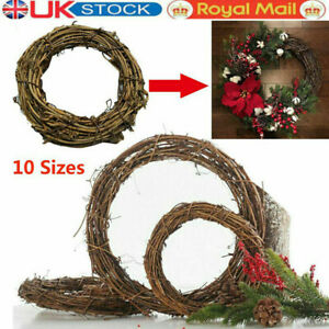 Christmas Artificial Vine Ring Wreath Rattan Wicker Garland DIY Xmas Party Decor