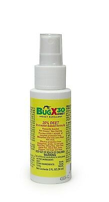 Bug X 30 Insect Repellent 2 oz  Bottle Outdoor Protection First Aid Kit Refill