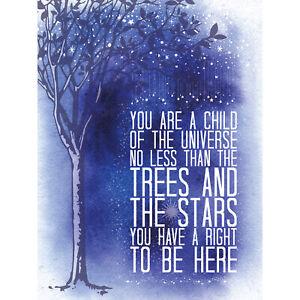 Desiderata-Ehrman-Child-Universe-Trees-Stars-Large-Wall-Art-Print-18X24-In