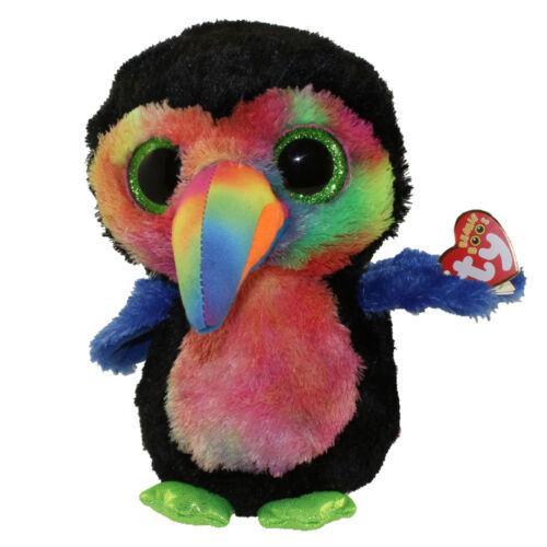 "Ty Beanie Boos 9/"" MEDIUM Stuffed Plush Beaks the Toucan MWMTS New w// Heart Tags"