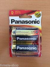 Panasonic Pro Power LR20 D Alkaline Batterie 2 Stück