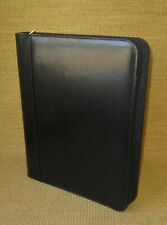 Folio Day Timer Black Faux Leather 1125 Rings Zip Plannerbinder Monarch