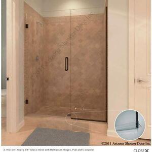 Nib Nice Arizona Frameless Heavy Glass, Swinging Bathroom Doors