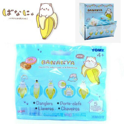 Bananya Kitty dans une banane aveugle mystère Sac Figurine Dangler-Tomy-Neuf Scellé