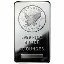 10 oz Sunshine Silver Bar (New, MintMark SI)