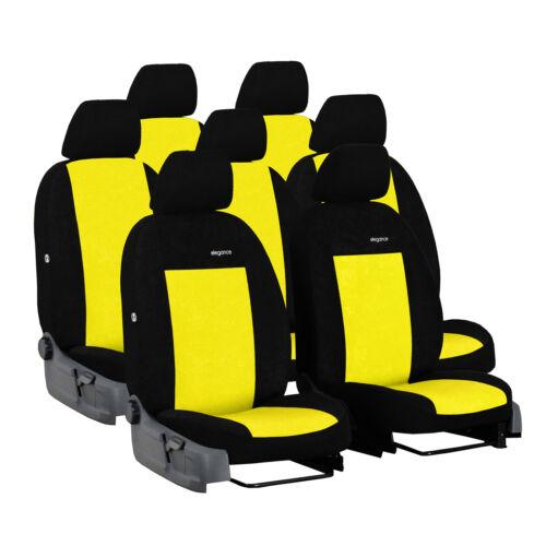 Asiento de coche para referencias Opel Zafira C 11-18 7-asientos amarillo kit completo ya referencias auto