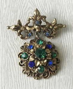 Vintage-Fleur-de-lis-brooch-pin-made-in-Taiwan