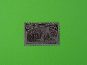 Stamps US * SC 236 * Unused * H * 1893 * 8c Magenta * Columbus Restored to Favor