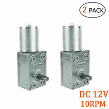 2pack Torque Turbo Dc 12v 10rpm Gear Motor For Diy Intelligent Driving Device