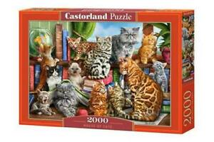 "Castorland Puzzle 2000 Pieces HOUSE OF CATS 92x68cm/36""x27"