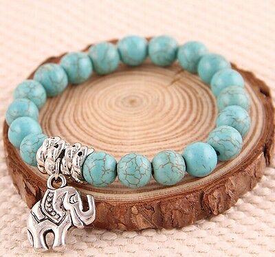 Fashion Natural Black Lava Rock Stone Beaded Bracelet Charm Lion/Buddha Bracelet