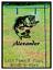 "BASS FISH PERSONALIZED W// NAME HOMEMADE PEXIGLASS GARDEN FLAG 11X14/"" YARD SIGN"