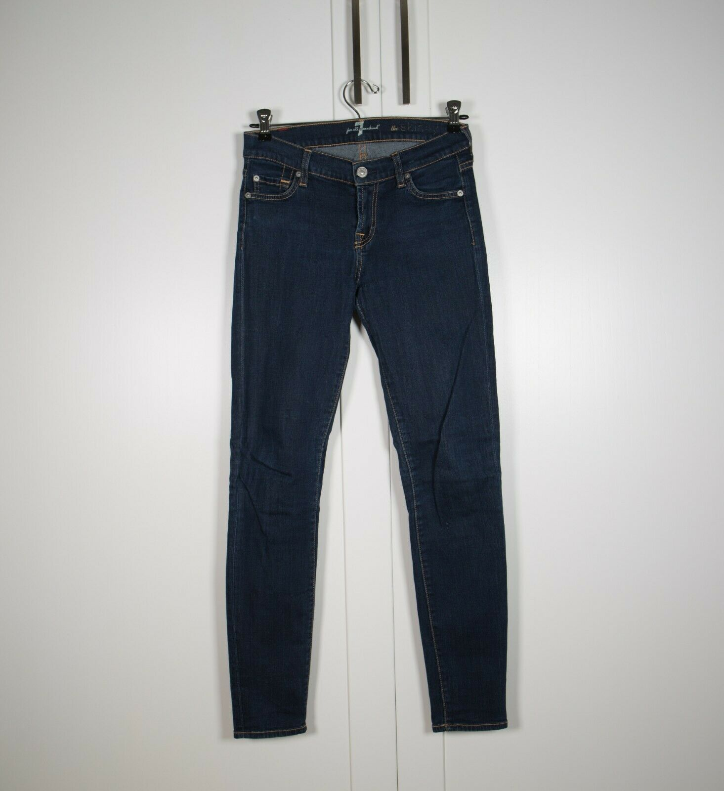 7 For All Mankind The Skinny Jeans Size 25 Dark Denim bluee Stretch Pant
