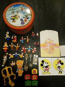 Disney-Figures-Huge-Lot-60s-70s-80s-90s-Rare-Figurines-Stickers-Spoons