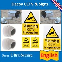 Dummy Cctv Camera's & English Signs & Labels (ideal For Homes & Business)