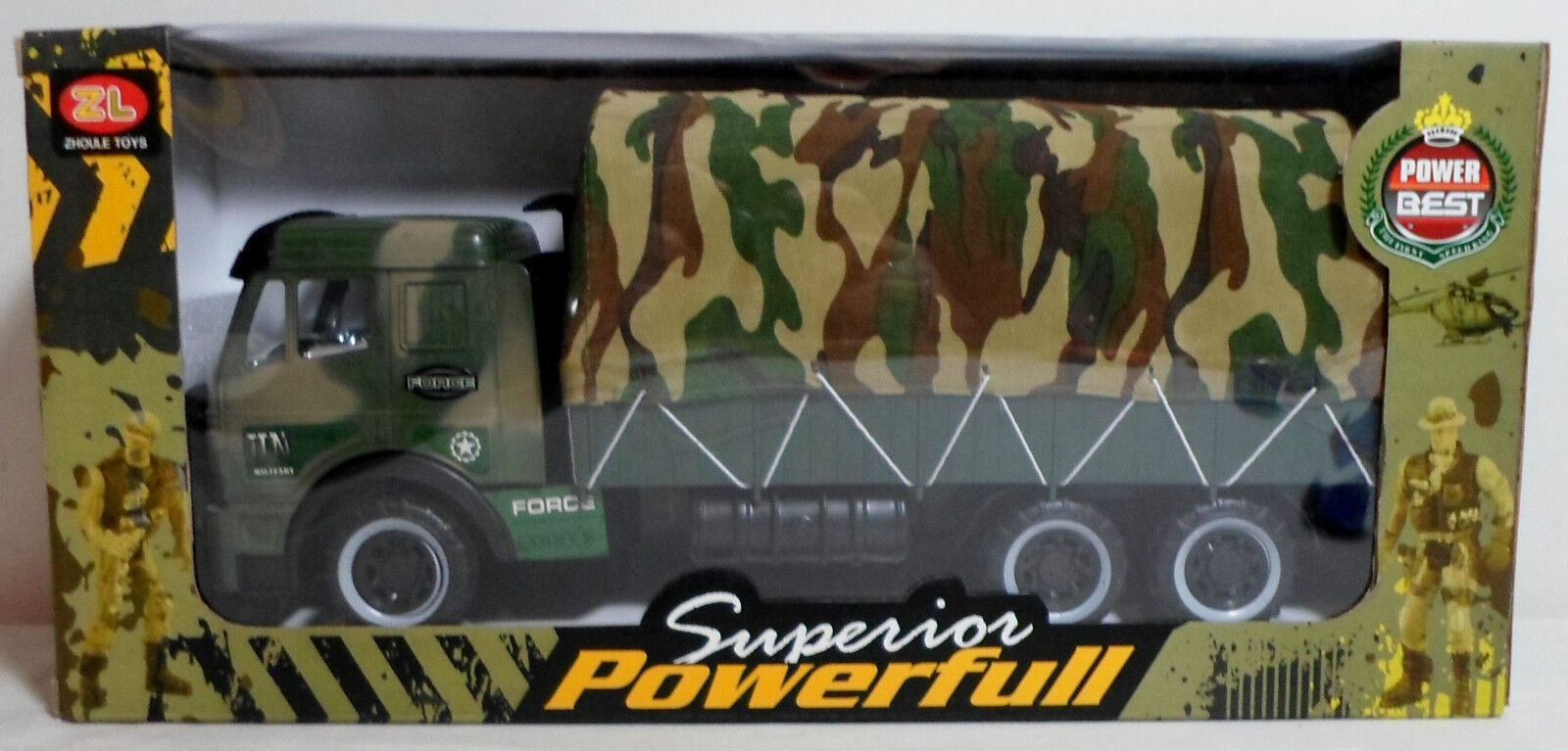 ARMY POWER UN MILITARY APC CARRIER HIGHLY DETAILED FOR GI JOE FIGURES MIB SEALED