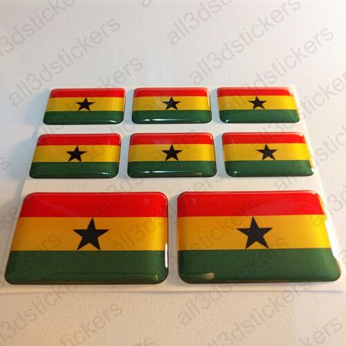 Sticker Ghana Resin Domed Stickers Ghana Flag 3D Vinyl Adhesive Decal Car