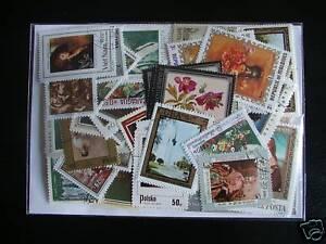 Mon ChéRi Tableau / Peintures Italiennes : 50 Timbres Tous DiffÉrents / Stamps Paintings