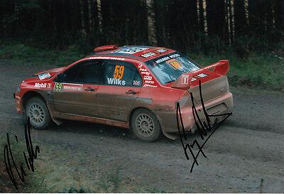 Guy Wilks and Phil Pugh Hand Signed Mitsubishi Photo 12x8 2.