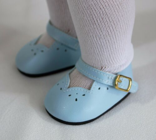 "Shoes Light Blue Dressy w// Strap For 18/"" American Girl Doll Accessories Clothes"