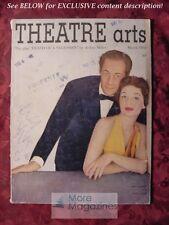 THEATRE ARTS March 1951 REX HARRISON LILLI PALMER ---