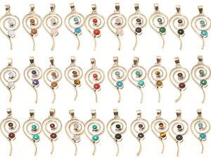 Stylish-Wholesale-Lot-Silver-Plated-100Pcs-Pendant-Gemstone-Jewelry