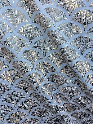 White Spandex Lycra Mermaid Small Fish Scale Hologram Fabric Sold By The Yard