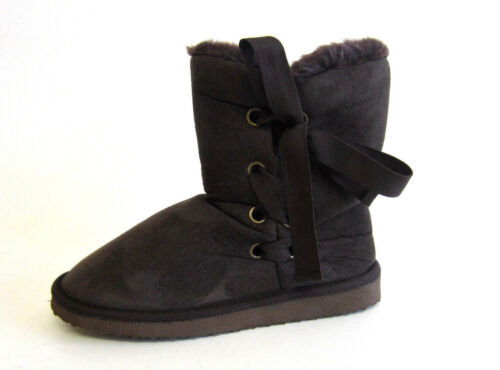 R22C COCO Ladies Faux Fur Lined Crumble Boot L8R580 Black or Brown