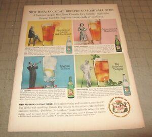 "1959 CANADA DRY 10.5"" x 14"" Life Magazine 1-Page Ad - Ginger Ale - Club Soda"