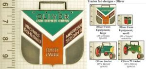 Oliver-farm-equipment-decorative-fobs-various-designs-amp-leather-strap-options