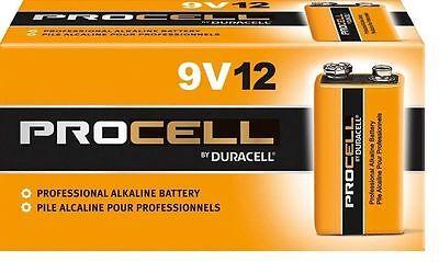 DURACELL PROCELL 9V 9 VOLT ALKALINE BATTERIES TWELVE (12) PER BOX
