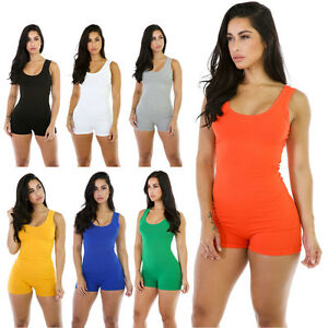 Ladies Women Stretchy Yoga Gym Sports Casual Rompers Jumpsuits