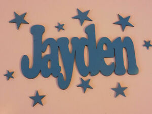 Personalised Wood Name board Plaque DISNEY style wall door PINK 99p per letter