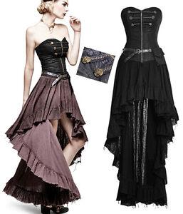 Robe-bustier-gothique-lolita-steampunk-neo-victorien-asymetrique-traine-PunkRave