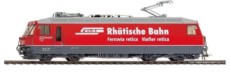 BEMO 1459164-h0-ac - traccia normale-e-Lok ge4 4iii 644 RHB ROSSO  Rhätische Bahn  NUOVO