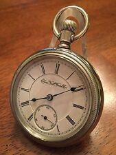 1892 Elgin 18 size B.W. Raymond 15j True Train Railroad ADJ Pocket Watch Case
