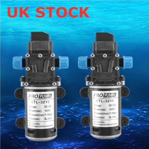 12V 160PSI 8L//Min High Pressure Diaphragm Self Priming Water Pump Caravan Wash