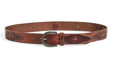 100% Vero Lucky Brand Donna - Xs - $ 69 - Borchie Pelle Marrone Cintura Reputazione In Primo Luogo