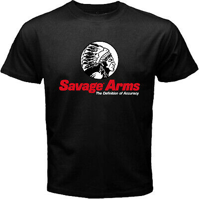 Savage Arms USA Firearms Rifle Military Tactical Hunting Black T-shirt Size S-5X