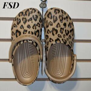 Crocs-Classic-Printed-Clog-Leopard-Gold