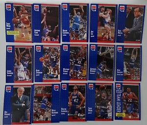1991-92-Fleer-Sacramento-Kings-Team-Set-Of-15-Basketball-Cards