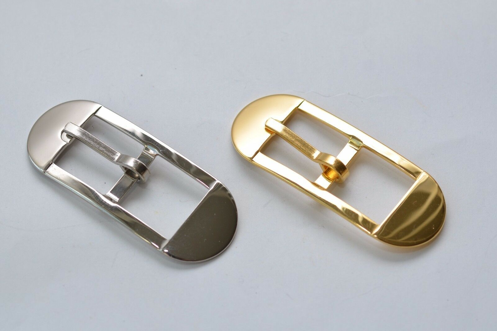 Belt Buckle Clasp For Approx. 15 MM Width, Silver/Gold, without Rust