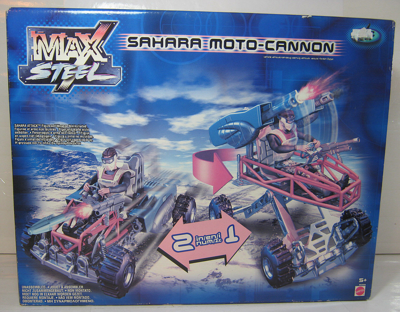 MAX STEEL 2002 SAHARA MOTO-CANNON EUROPEAN EXCLUSIVE VERSION SEALED NEW
